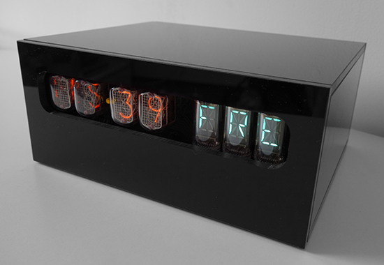 "nixie clock ""Special"" (Unique) with weekday display"